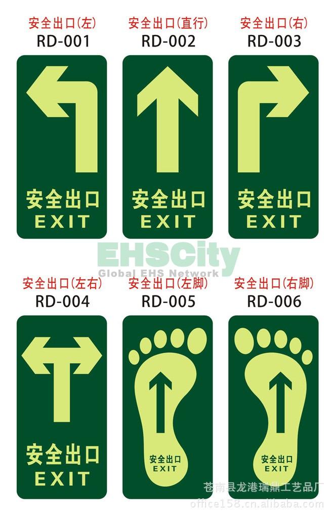 安全出口地贴 安全指示牌 地贴标志 消防地贴