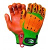 0098 矿业防撞手套 防静电 抗菌防臭 手掌浸磨砂丁腈 防滑 橙色/绿色