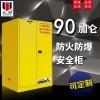 众御ZOYET 90加仑工业防火防爆安全存储柜,双层冷轧钢板,38mm空气绝缘层,符合美国工业OSHA 29 CFR 1910.106标准