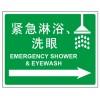 安全标识 急救标识 紧急淋浴 洗眼标识