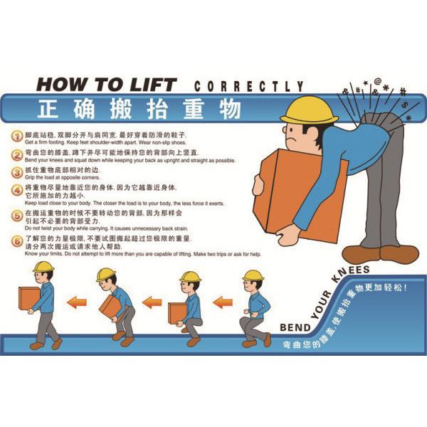 30403 安全教育挂图(正确搬抬重物)
