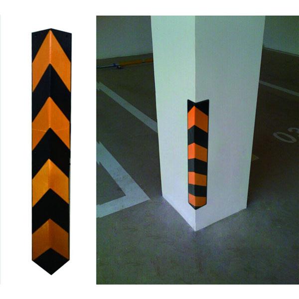 反光墙角保护器(直角)质原生橡胶,黄色反光条纹,含安装配件,高800mm