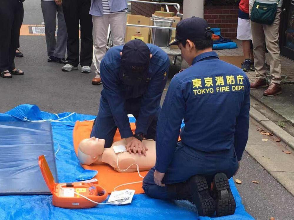 东京消防厅小区公益急救培训,都用上AED了, 最具性价比AED推荐