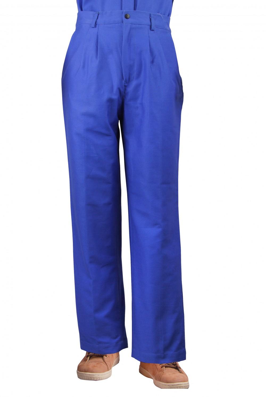 AP-9700友盟蓝色可水洗棉布防火阻燃焊裤