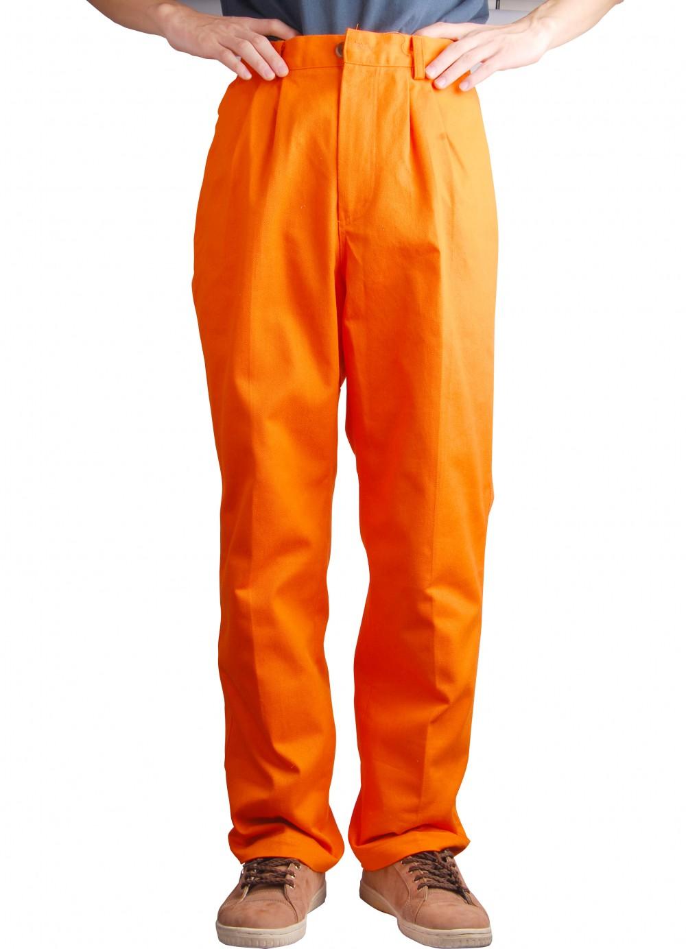 AP-8101友盟橙色可水洗棉布防火阻燃焊裤