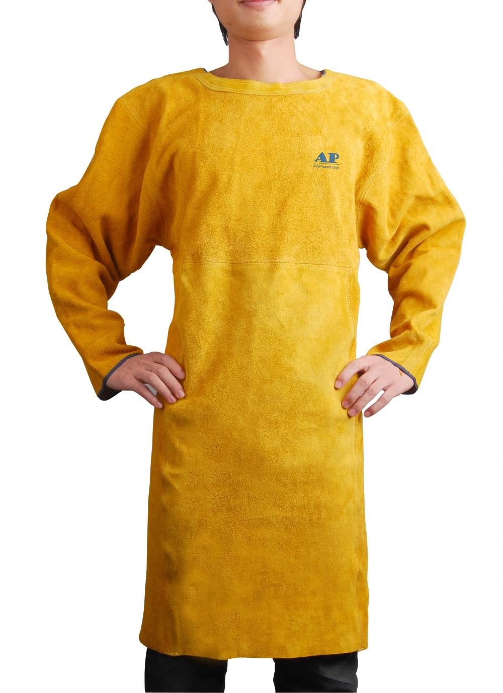 AP-6200友盟全皮实用款开背式电焊围裙