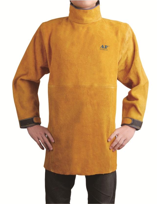 AP-8000友盟金黄色皮护胸带领长袖围裙