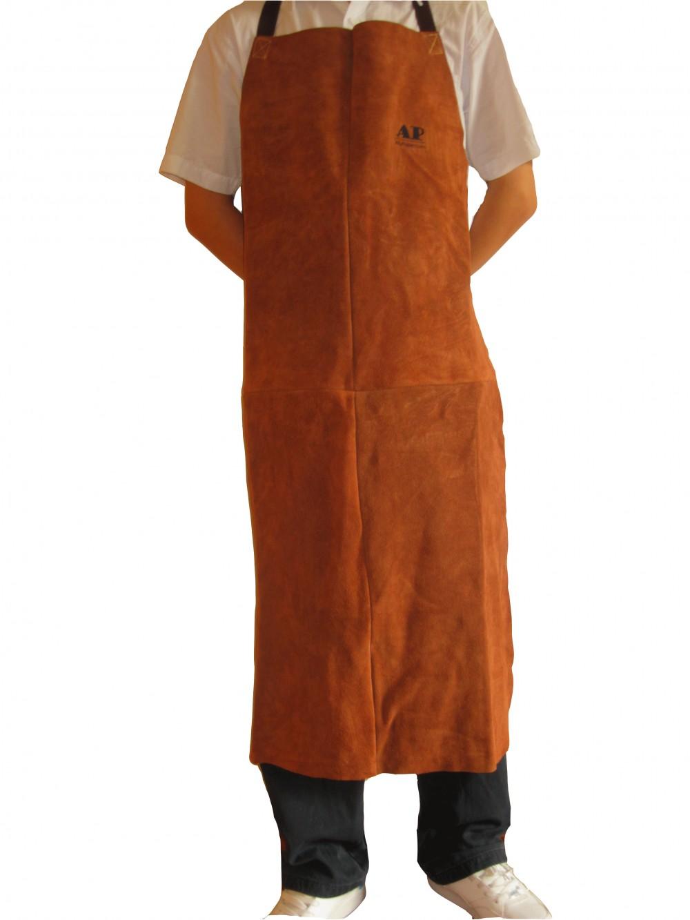 AP-6300友盟咖啡色全皮护胸围裙