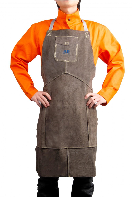 AP-6100友盟炭啡色全皮护胸围裙
