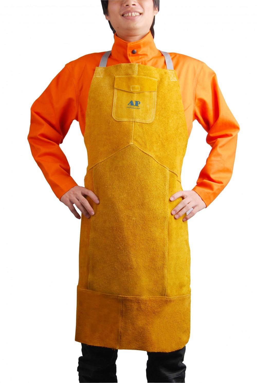 AP-6101友盟金黄色牛皮护胸围裙