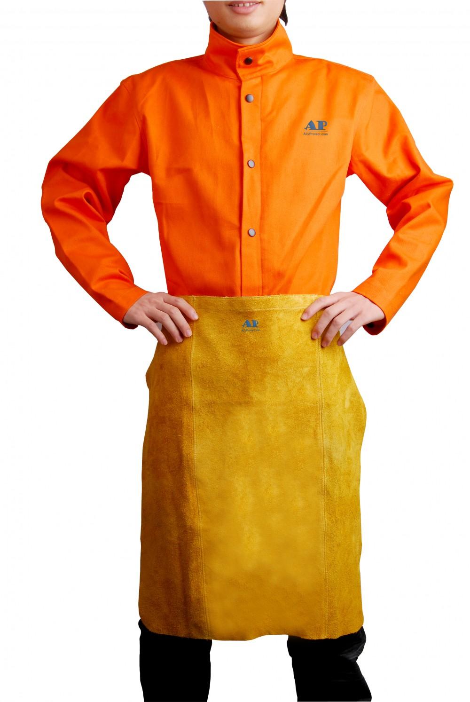 AP-6024友盟金黄色全皮短围裙