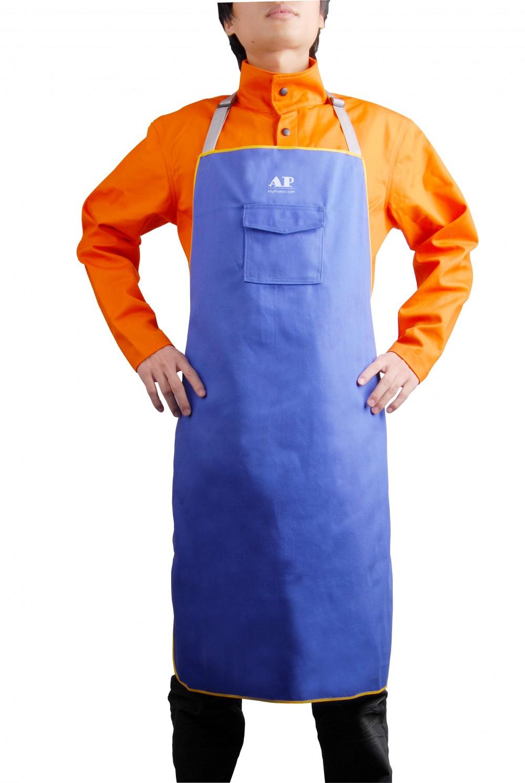 AP-7036友盟蓝色阻燃布围裙