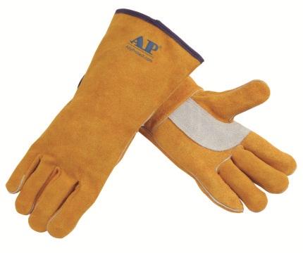 AP-2008友盟金黄色护掌电焊手套