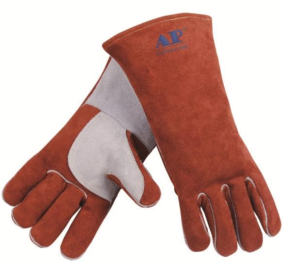 AP-2600友盟咖啡色高档皮手套