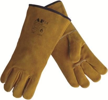 AP-1210友盟金黄色牛二层皮烧焊手套