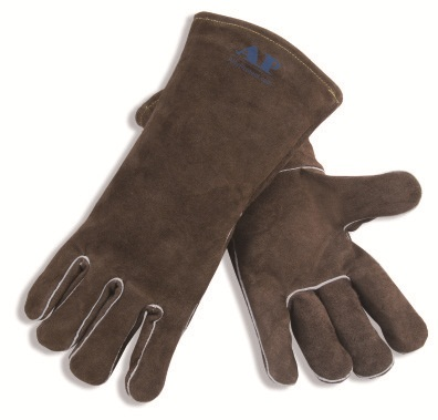 AP-0707友盟炭灰色牛二层皮手套