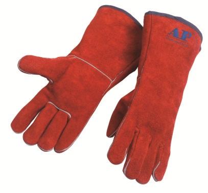 AP-2102友盟锈橙色全皮烧焊手套