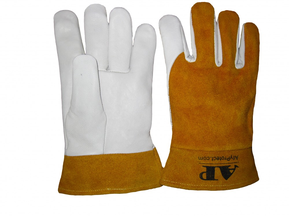 AP-1188友盟高档羊青皮短袖筒TIG手套