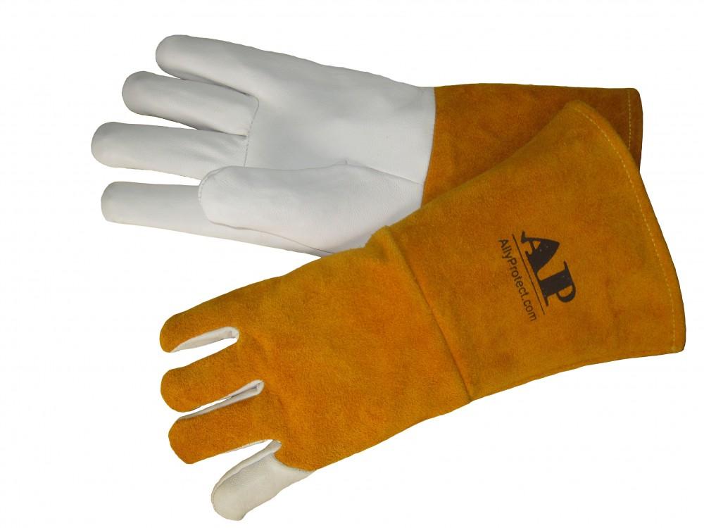 AP-1199友盟高档羊青皮长袖筒TIG手套