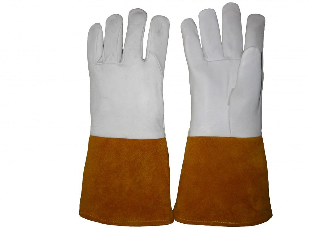 AP-1099友盟高档羊青皮长袖筒TIG焊手套