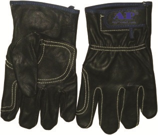 AP-1190友盟高档黑色羊青皮电焊手套