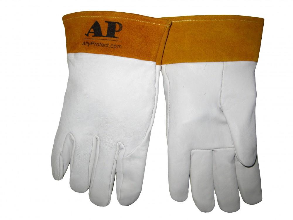 AP-1102友盟牛青皮短袖筒TIG手套