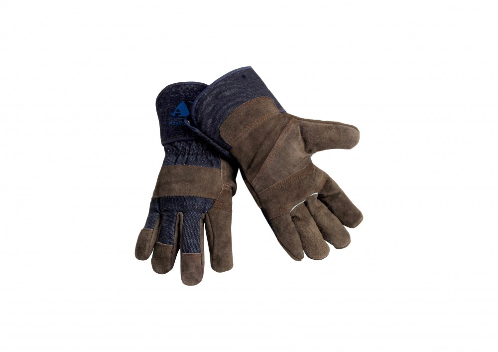 AP-1503友盟炭灰色驳掌手套