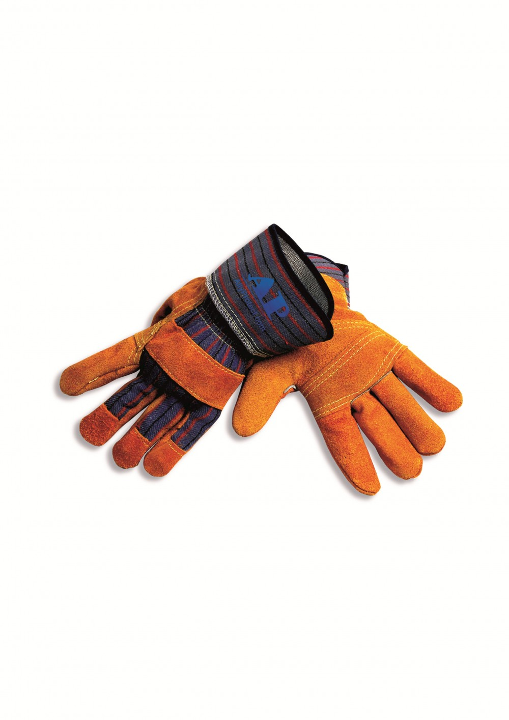 AP-1511友盟金黄色皮驳掌手套