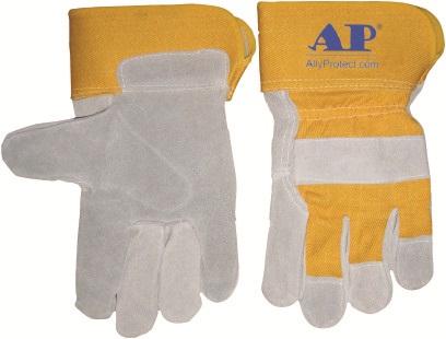 AP-2209友盟金黄色配原色全掌手套