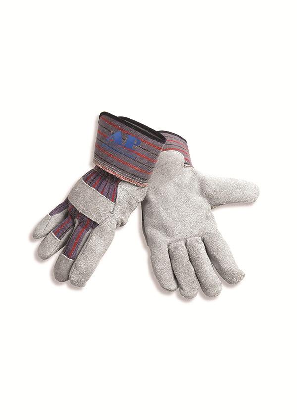 AP-2203 友盟经济型掌皮(半皮)背布工作手套