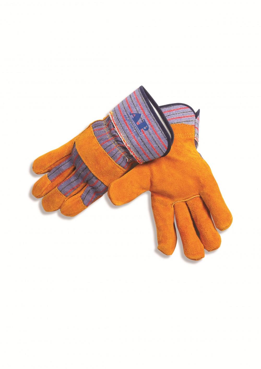 AP-1516友盟金黄色全掌半皮手套