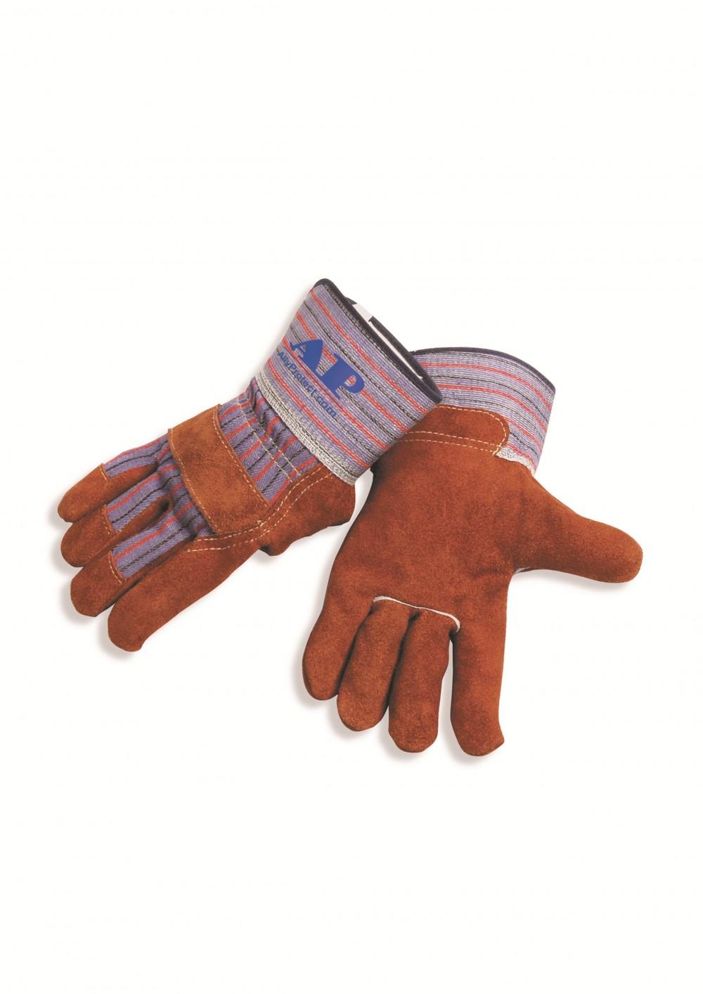 AP-2206友盟咖啡色全掌半皮工作手套