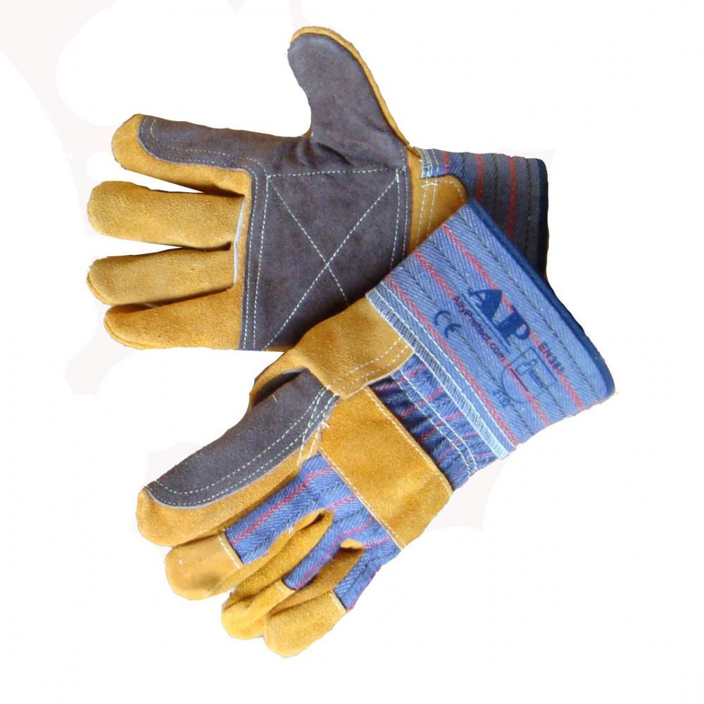 AP-1524友盟金黄色配炭啡色全托手套