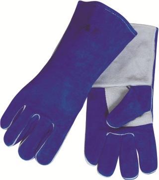AP-2601友盟彩蓝色加原色护掌高档烧焊手套