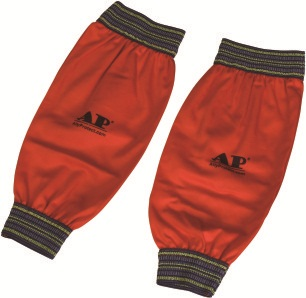 AP-9103友盟橙色防火布配弹力橡筋手袖