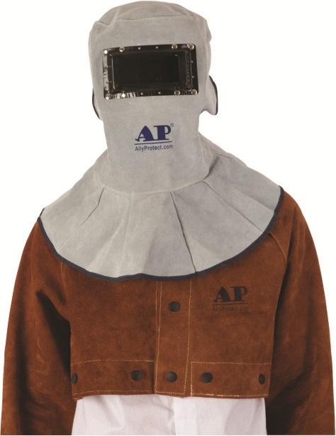 AP-3002友盟原色牛皮不翻盖电焊面罩