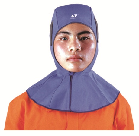 AP-6680 友盟蓝色可水洗全棉阻燃布全护式焊帽