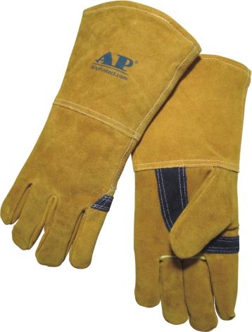 AP-3202友盟金黄色护掌烧焊手套