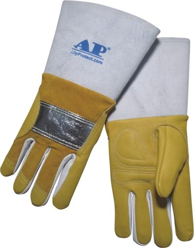 AP-0305友盟反射铝抗震耐温牛青MIG手套