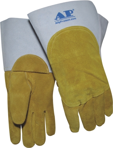 AP-1104友盟鹿二层双皮超柔软MIG手套