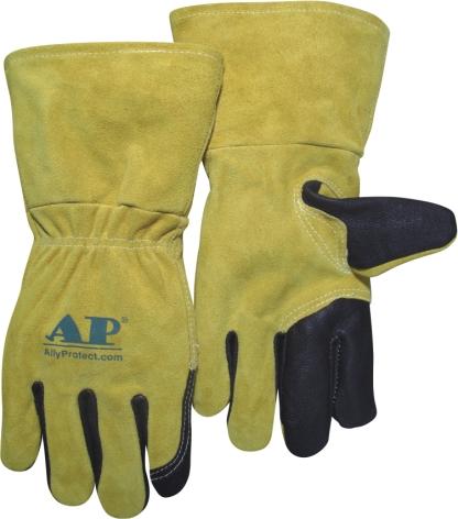 AP-2085友盟时尚30CM 牛青三指/二层牛皮MIG手套