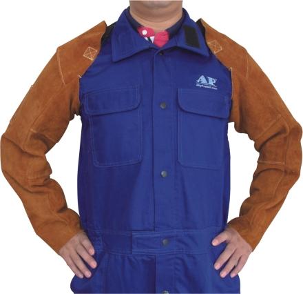 AP-9108友盟咖啡色全皮及肩长手袖
