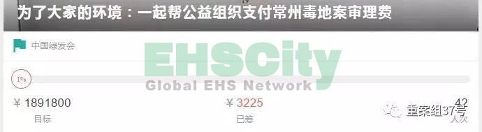 ▲中国绿发会在某平台对败诉案件受理费发起募捐。 网络截图