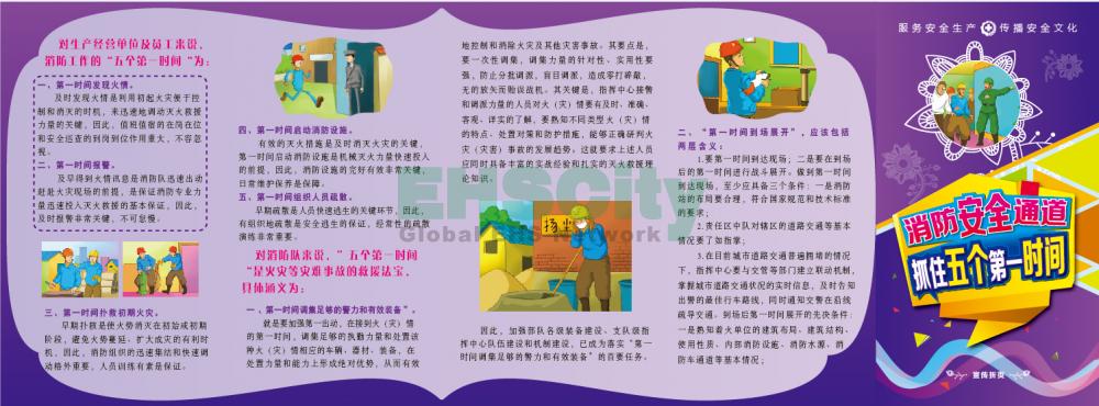 ZAZ0033消防安全通道抓住五个第一时间宣传折页