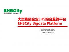 大型集团企业EHS综合监管平台 EHSCity Bigdata Platform