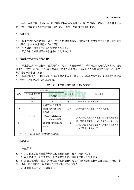 GBZ 139—2019稀土生产场所放射防护要求_页面_05