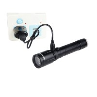 N6F可调焦 USB直充18650锂电高亮手电筒 5W  耐朗