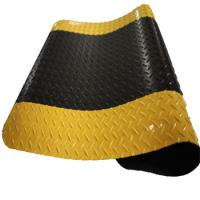 黄黑边13.5MM×1800CM×90CM 索恩耐磨型防静电抗疲劳垫 爱柯部落