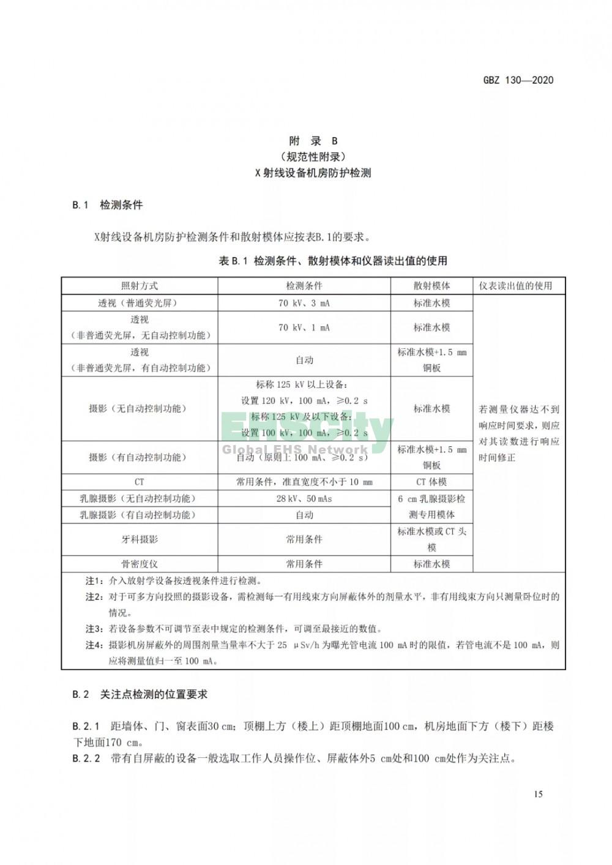 GBZ 130-2020放射诊断放射防护要求 (19)